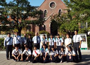 風間浦中学校2年生が同志社中学訪問